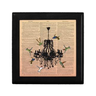 Caja de regalo de la lámpara del colibrí de la pág