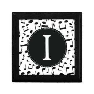 Caja de regalo de la letra I del monograma de la