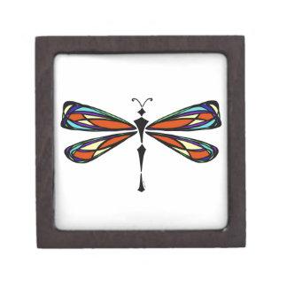Caja de regalo de la libélula del vitral cajas de joyas de calidad