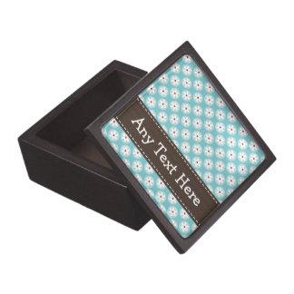 Caja de regalo de la margarita de las azules turqu cajas de regalo de calidad