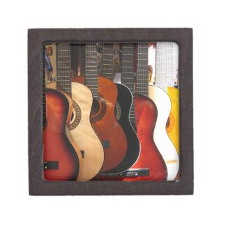 Caja de regalo de la música de la guitarra caja de recuerdo de calidad