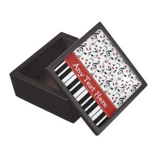Caja de regalo de la nota de la música del piano caja de joyas de calidad