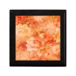 Caja de regalo de la pintura de la flor
