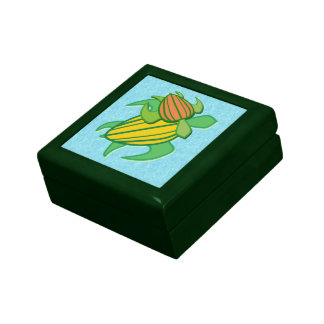 Caja de regalo de la teja de dos tortugas de mar