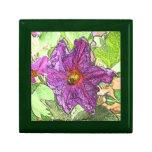 Caja de regalo de la teja de la flor de la berenje