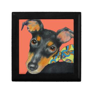 Caja de regalo de la teja de Manchester Terrier Joyero Cuadrado Pequeño