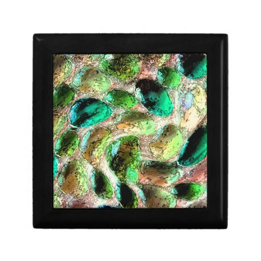 Caja de regalo de la teja de mosaico de la joyero cuadrado pequeño