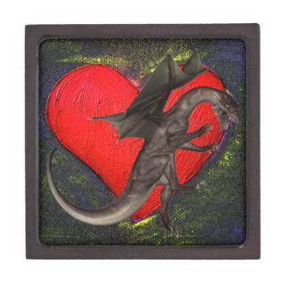 Caja de regalo de la teja del dragón caja de recuerdo de calidad