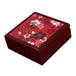 Caja de regalo de la teja del estampado de plores