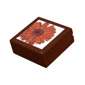 Caja de regalo de la teja del Gerbera