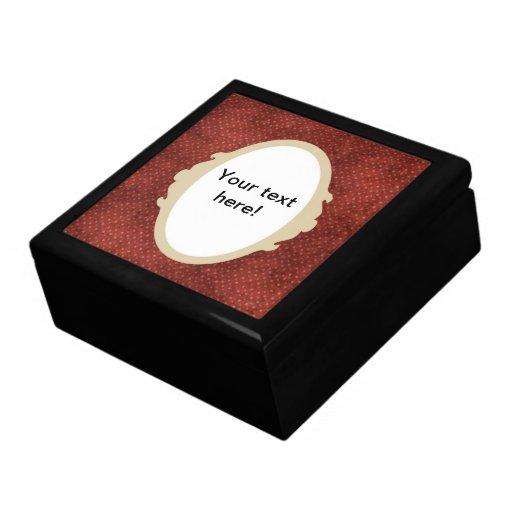 Caja de regalo de la textura de Brown Joyero Cuadrado Grande