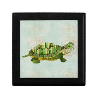 Caja de regalo de la tortuga del jade joyero cuadrado pequeño