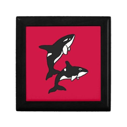 Caja de regalo de las orcas