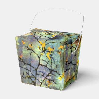 Caja de regalo de las ramas del flor del limón caja para regalos de fiestas