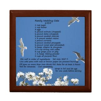 Caja de regalo de las recetas del boda