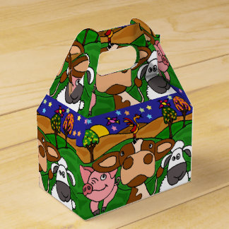 Caja de regalo de los animales del campo divertido caja para regalo de boda