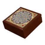 Caja de regalo de los elefantes de la mandala joyero cuadrado grande