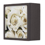 Caja de regalo de los rosas blancos cajas de regalo de calidad