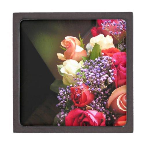 Caja de regalo de los rosas de Leslie Harlow Cajas De Joyas De Calidad