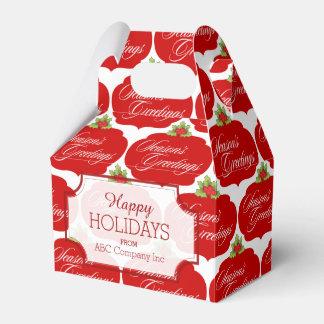 Caja de regalo de los saludos de las vacaciones cajas para regalos de fiestas