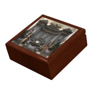 Caja de regalo de los tubos de órgano - St Sulpice Joyero Cuadrado Grande