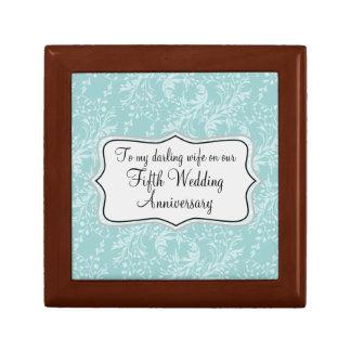 Caja de regalo de madera de boda de la esposa del  joyero cuadrado pequeño