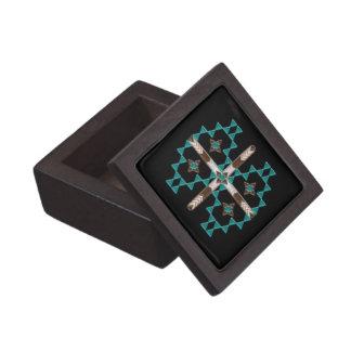 Caja de regalo de madera de la simetría del caja de recuerdo de calidad