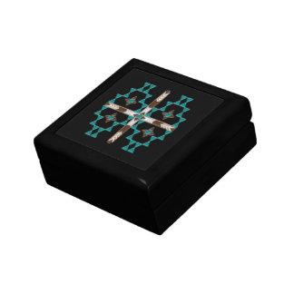 Caja de regalo de madera de la simetría del joyero cuadrado pequeño
