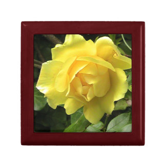 Caja de regalo de madera del rosa amarillo joyero cuadrado pequeño
