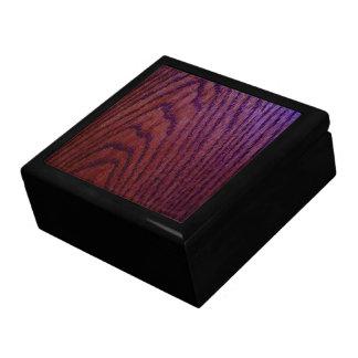 Caja de regalo de madera oscura joyero cuadrado grande