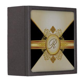 Caja de regalo de marfil del recuerdo del monogram caja de regalo de calidad