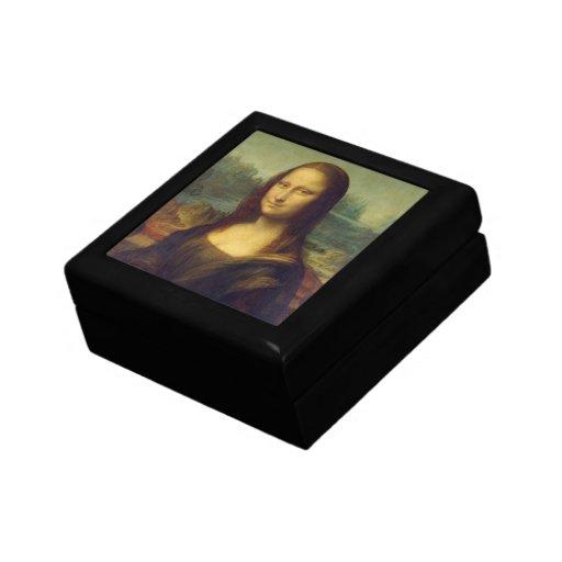 Caja de regalo de Mona Lisa Joyero Cuadrado Pequeño