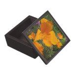 Caja de regalo de oro de la baratija de la amapola cajas de recuerdo de calidad