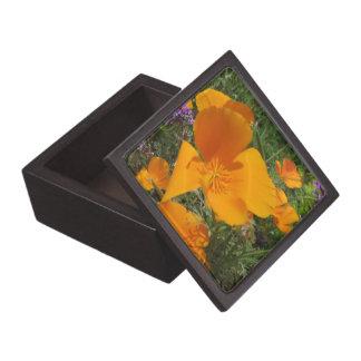 Caja de regalo de oro de la baratija de la amapola caja de regalo de calidad