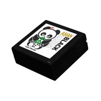 Caja de regalo de Panda® del amor Joyero Cuadrado Pequeño