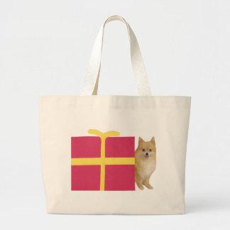 Caja de regalo de Pomeranian Bolsas De Mano