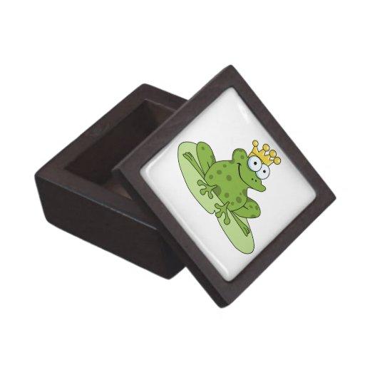 Caja de regalo de príncipe Premium de la rana Cajas De Recuerdo De Calidad