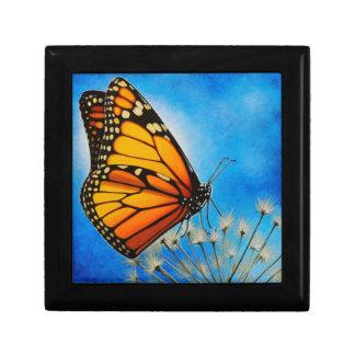Caja de regalo de reclinación de la mariposa de mo joyero cuadrado pequeño