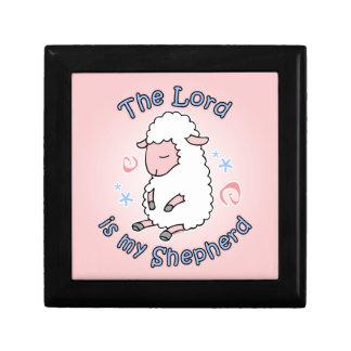 Caja de regalo de señor Is My Shepherd Joyero Cuadrado Pequeño