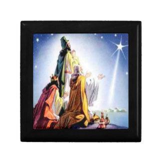 Caja de regalo de tres hombres sabios joyero cuadrado pequeño
