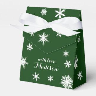 Caja de regalo de vacaciones de color verde oscuro paquetes de regalo para fiestas