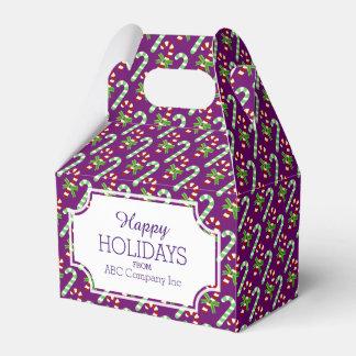 Caja de regalo de vacaciones del bastón de cajas para detalles de boda