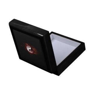caja de regalo de yang del yin joyero cuadrado pequeño