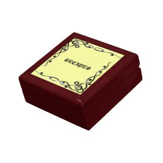 Caja de regalo decorativa de la receta con negro y joyero cuadrado pequeño