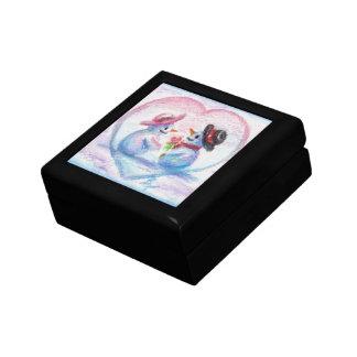 Caja de regalo del aceo del amor del muñeco de nie
