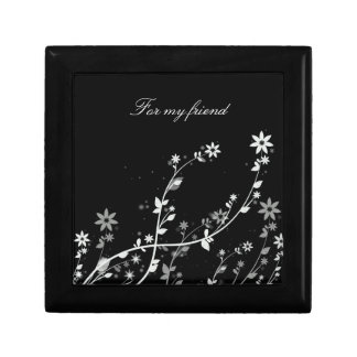 Caja de regalo del amigo joyero cuadrado pequeño
