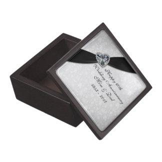 Caja de regalo del aniversario de boda del damasco cajas de regalo de calidad