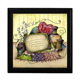 Caja de regalo del aniversario del algodón joyero cuadrado grande