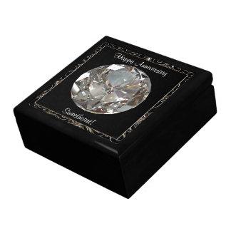 Caja de regalo del aniversario del diamante