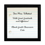 Caja de regalo del aprecio del profesor